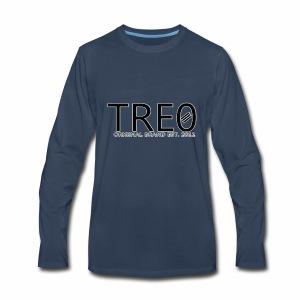 TRE0 Brand Glow White - Men's Premium Long Sleeve T-Shirt