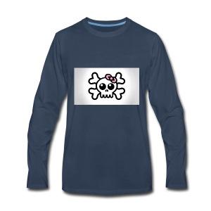 skull bow drawing 85690 1920x1080 - Men's Premium Long Sleeve T-Shirt