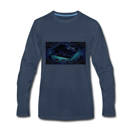 ps4 back grownd - Men's Premium Long Sleeve T-Shirt
