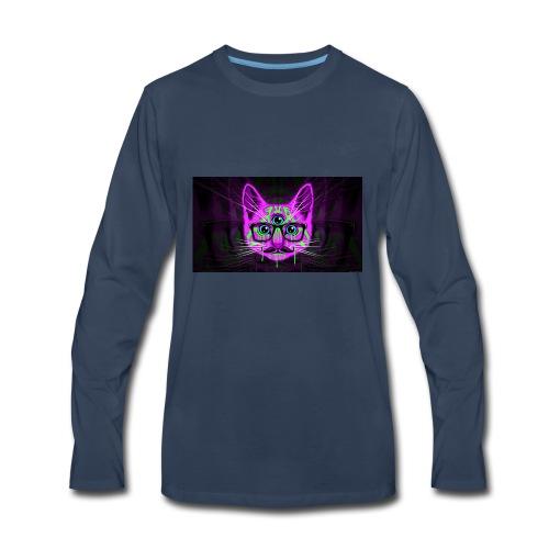 Meow Illuminati - Men's Premium Long Sleeve T-Shirt
