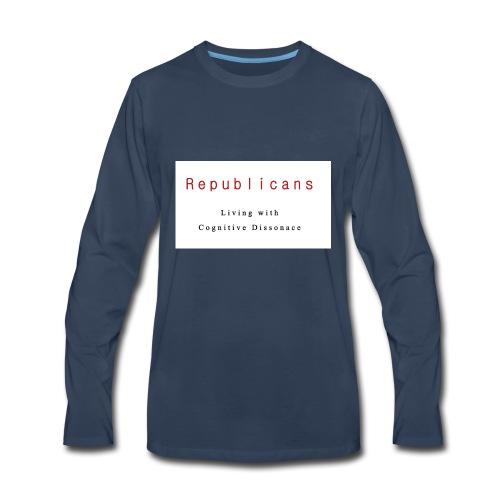 Liberal T-Shirt Republican Cognitive Dissonance - Men's Premium Long Sleeve T-Shirt