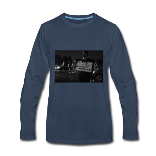 no justice no peace know justice know peace - Men's Premium Long Sleeve T-Shirt