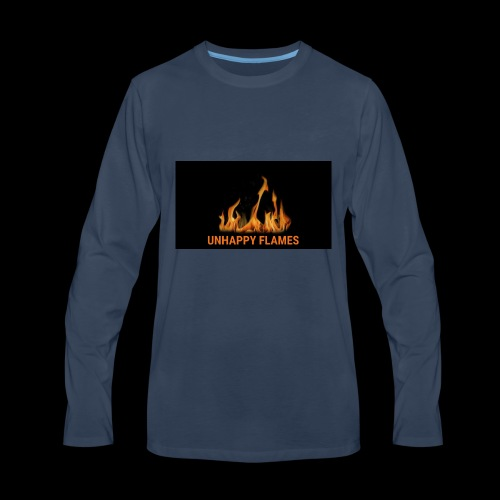 unhappy flames - Men's Premium Long Sleeve T-Shirt