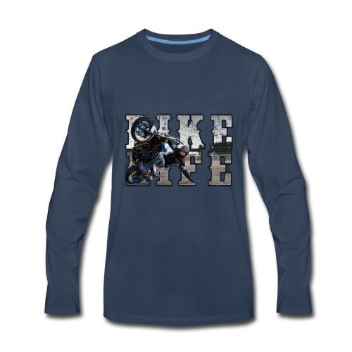 bike life phototext scratch desing - Men's Premium Long Sleeve T-Shirt