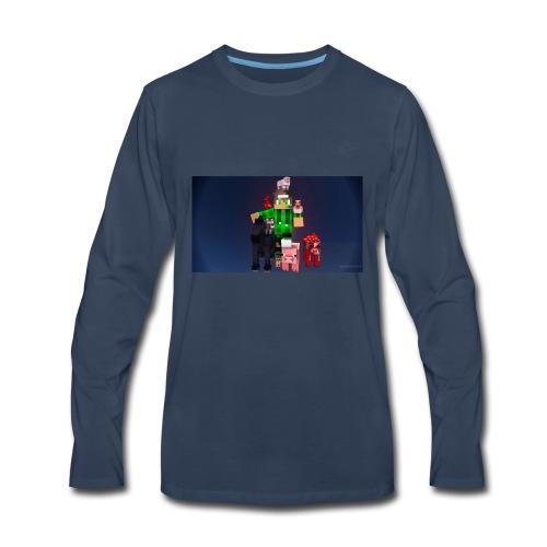 this is my youtube logo - Men's Premium Long Sleeve T-Shirt