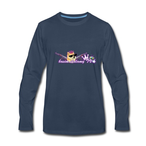 basim elalamy TV logo - Men's Premium Long Sleeve T-Shirt