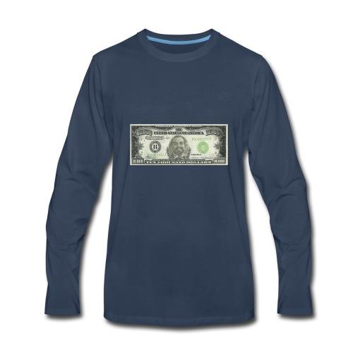 Face on Paper Money - Men's Premium Long Sleeve T-Shirt