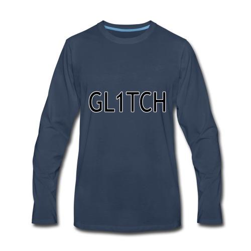 GL1TCH LOGO - Men's Premium Long Sleeve T-Shirt