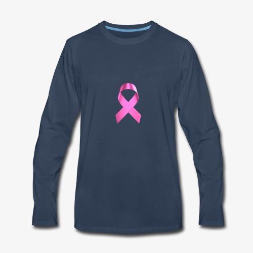 Pink Ribbon Hoodie - Men's Premium Long Sleeve T-Shirt