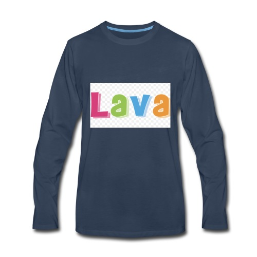 The lava - Men's Premium Long Sleeve T-Shirt