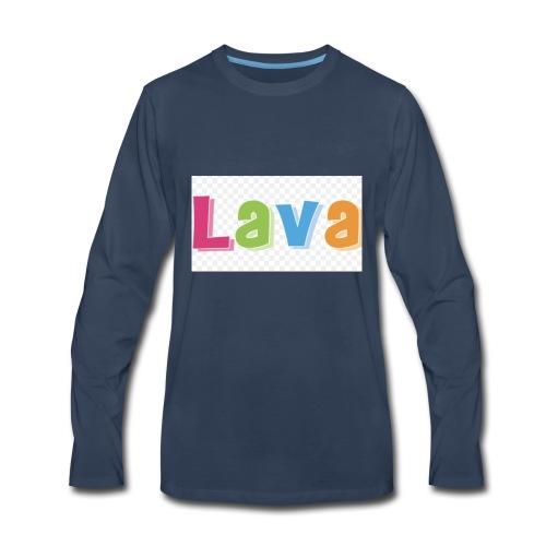 The lava - Men's Premium Long Sleeve T-Shirt