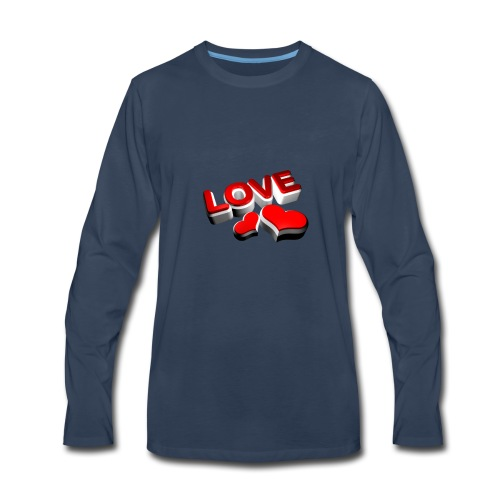 love - Men's Premium Long Sleeve T-Shirt