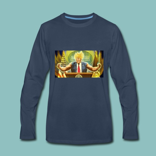 Donald Trump goes Super Saiyan - Men's Premium Long Sleeve T-Shirt