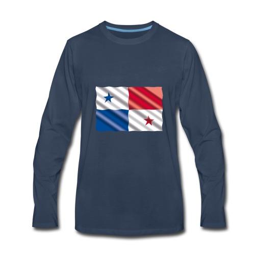 Bandera de Panamá - Men's Premium Long Sleeve T-Shirt