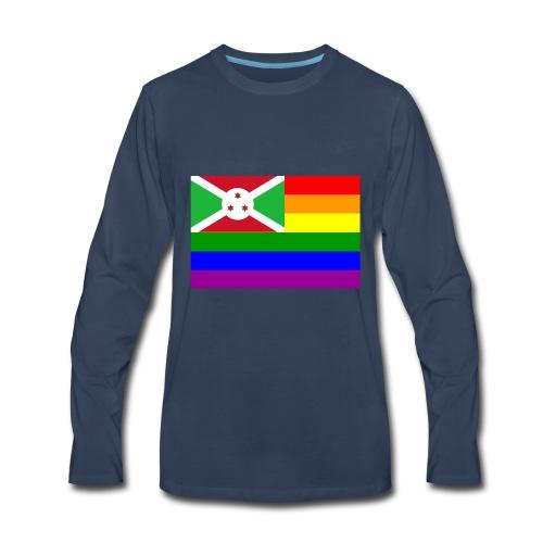 burundirainbowflag - Men's Premium Long Sleeve T-Shirt