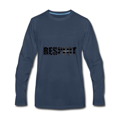 Respect Black and White flag - Men's Premium Long Sleeve T-Shirt