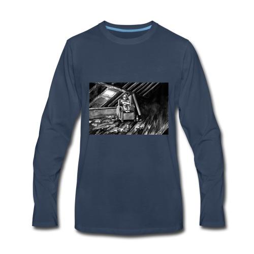Bex Hiding from Zombies - Men's Premium Long Sleeve T-Shirt