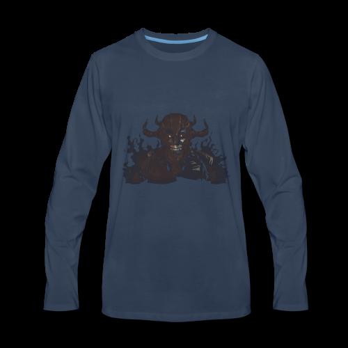 armored skeleton - Men's Premium Long Sleeve T-Shirt