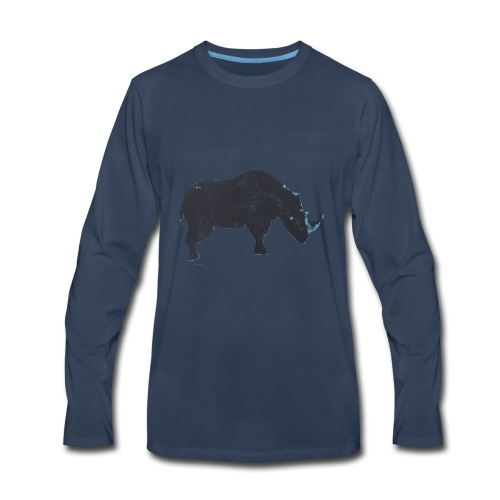 Rhino print - Men's Premium Long Sleeve T-Shirt