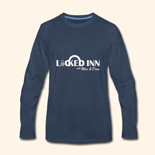 locked inn logo white - Men's Premium Long Sleeve T-Shirt