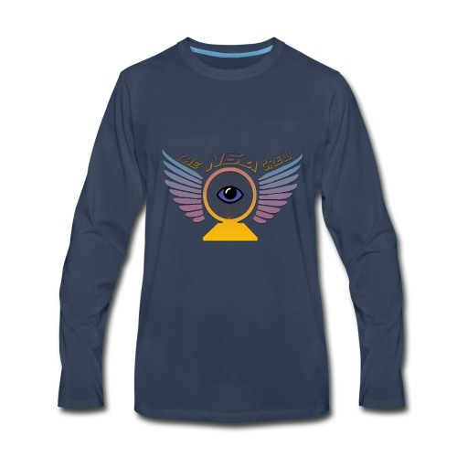 Nsa Crew Logo Design - Men's Premium Long Sleeve T-Shirt
