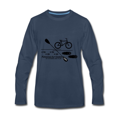 picture logo with .com - Men's Premium Long Sleeve T-Shirt