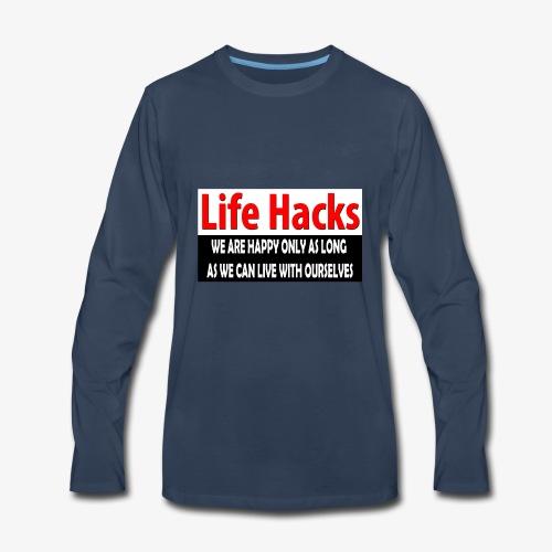 life hacks - Men's Premium Long Sleeve T-Shirt