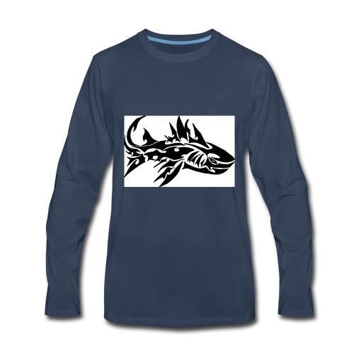 tribal shark2 - Men's Premium Long Sleeve T-Shirt