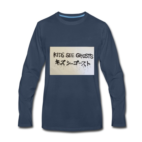 Kids see ghosts design - Men's Premium Long Sleeve T-Shirt