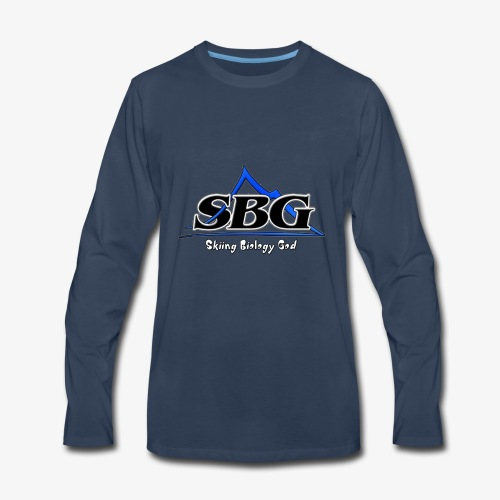 Skiing Biology God - Men's Premium Long Sleeve T-Shirt
