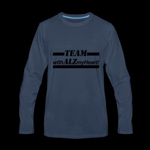 Team withALZmyHeart Logo Wear - Men's Premium Long Sleeve T-Shirt