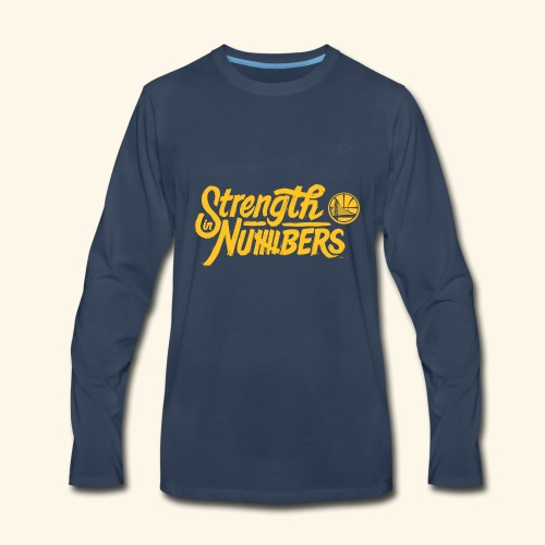 strength in numbers golden states - Men's Premium Long Sleeve T-Shirt