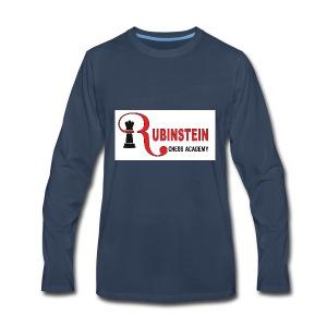 Rubinstein Chess Academy Logo - Men's Premium Long Sleeve T-Shirt