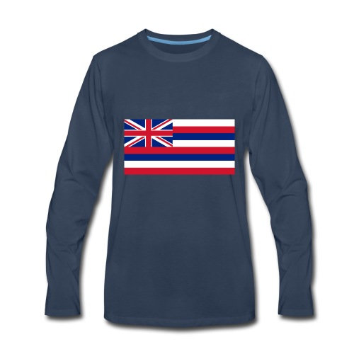 Hawaiian Flag - Men's Premium Long Sleeve T-Shirt