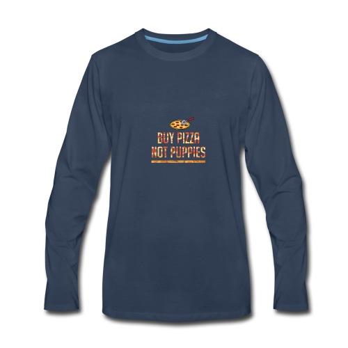 pizza cating - Men's Premium Long Sleeve T-Shirt