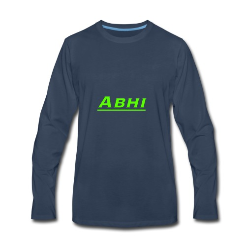 Abhi Official Merch (any color u chose) - Men's Premium Long Sleeve T-Shirt