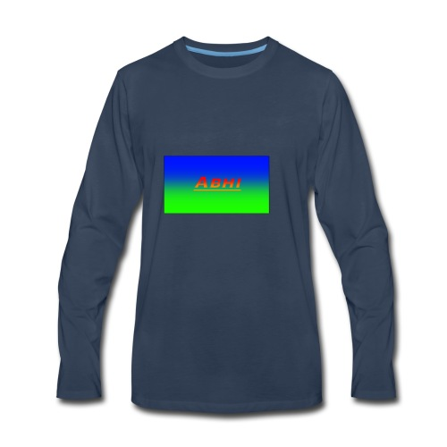 Oficial Abhi Merch (in mixed logo) - Men's Premium Long Sleeve T-Shirt