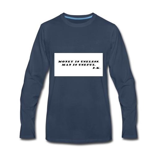 Money and Man - Men's Premium Long Sleeve T-Shirt