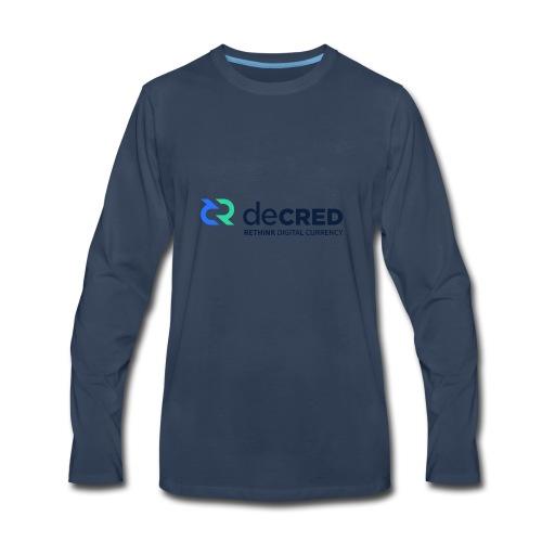decred - Men's Premium Long Sleeve T-Shirt