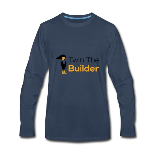 Twin The Builder Stacked Logo - Men's Premium Long Sleeve T-Shirt