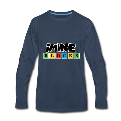 iMine Blocks 2 - Men's Premium Long Sleeve T-Shirt
