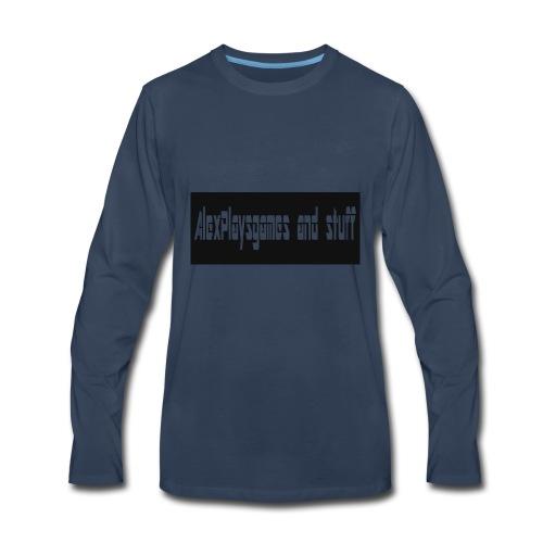 AlexPlaysgames and stuff design - Men's Premium Long Sleeve T-Shirt