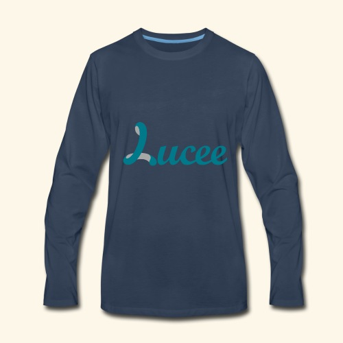 Lucee logo turquoise - Men's Premium Long Sleeve T-Shirt