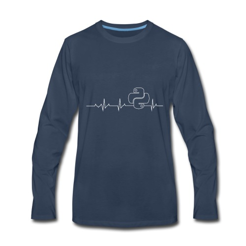 Python Heartbeat T-shirt Hoodie - Men's Premium Long Sleeve T-Shirt