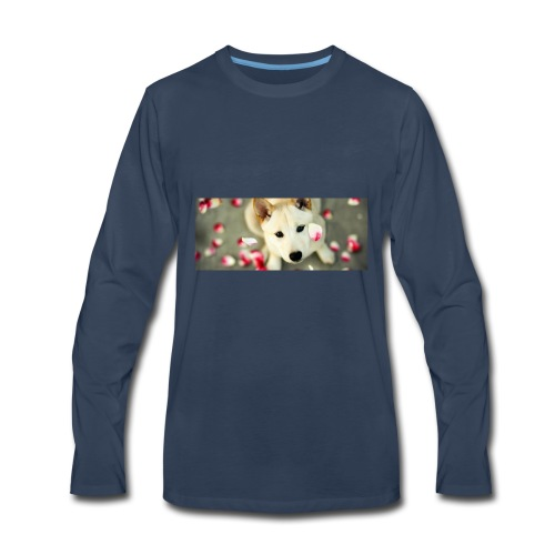 husky type pup - Men's Premium Long Sleeve T-Shirt