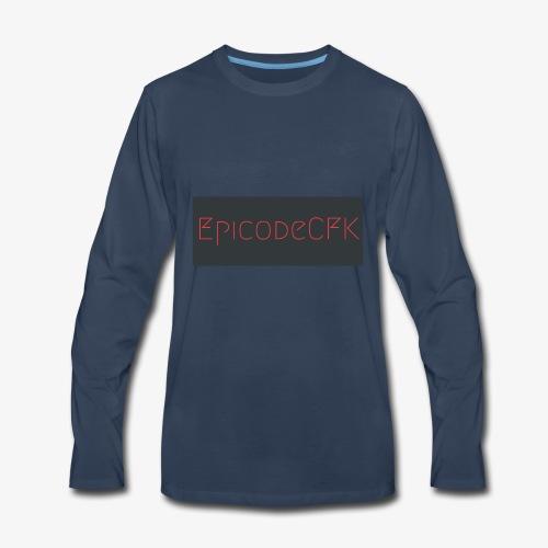 EpicodeCFK (Red & Gray) Logo - Men's Premium Long Sleeve T-Shirt