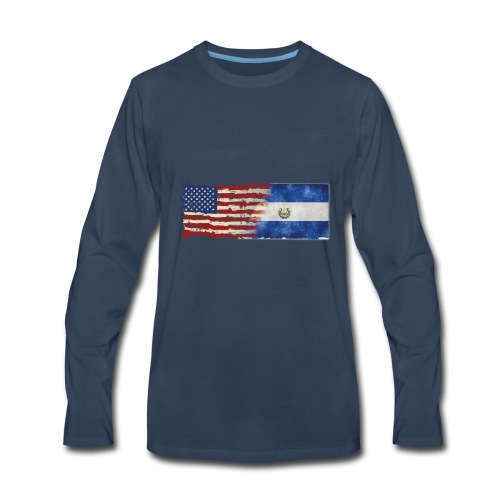 soy un americano salvadoreno - Men's Premium Long Sleeve T-Shirt