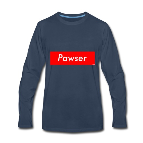 Pawser Logo SUPREME Style - Men's Premium Long Sleeve T-Shirt