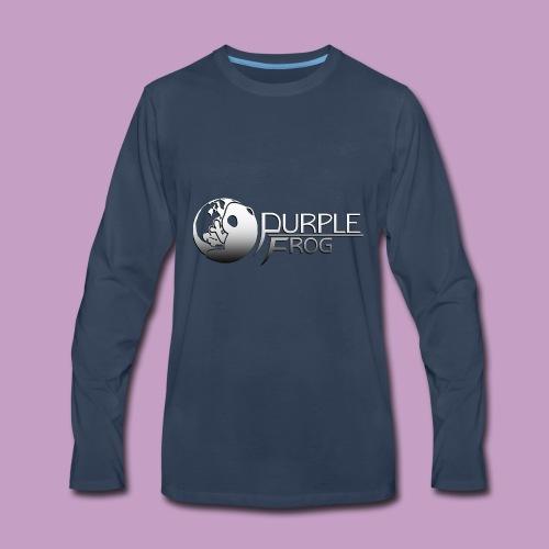 PurpleF LogoWhite Small Copy - Men's Premium Long Sleeve T-Shirt