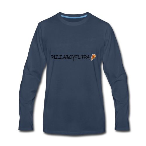 PizzaBoyFlippa - Black - Men's Premium Long Sleeve T-Shirt